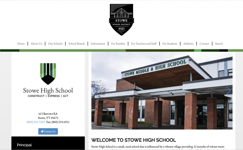 Stowe High School Will Join the Youth Climate Congress!